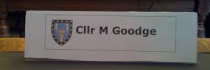 Councillor M Goodge