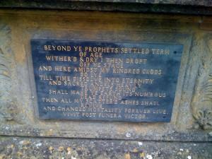 Inscription on John Martin's Tomb